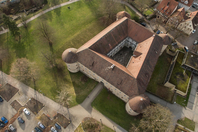 Spannende Aufnahme des Schorndorfer Burgschlosses.